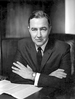 Eugene McCarthy Sitting Black & White